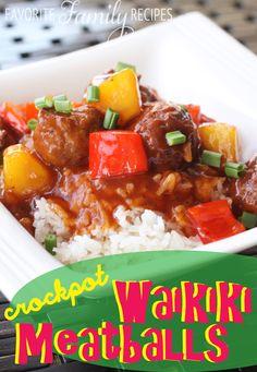 Crock Pot Waikiki Meatballs