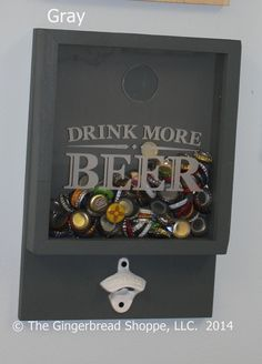 Drink more BEER/Bottle Cap Holder/Bottle by GingerbreadEngraved