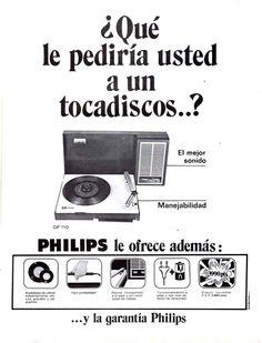 Maravillosos avances tecnológicos que incluían los tocadiscos Phillips en los años 70. Ojo al precio, hoy serían unos 24 euros.