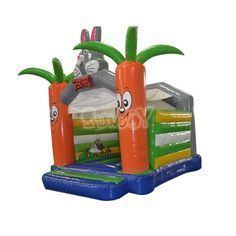 Rabbit and carrot theme jumping castle for kids, wholesale with factory prices at sunjoy.