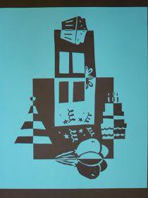 The Calvert Canvas: Adventures in Middle School Art!: Positive-Negative Cut Paper