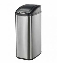 Nine Stars DZT 50 6 Infrared Touchless Stainless Steel Trash Can