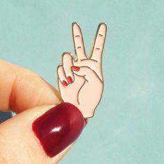 PEACE pin por CoucouSuzette en Etsy