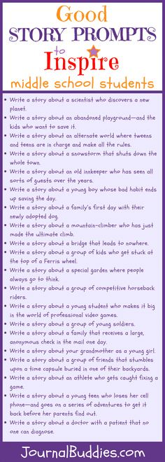In these 33 good story prompts for middle school students, your class will receive fresh ideas and characters to develop and explore. Use these brand new story prompts with your middle school students to spark their imaginations! Middle School Writing Prompts, Middle School Literacy, Middle School Tips, 6th Grade Writing Prompts, Middle School Quotes, Middle School Crafts, Narrative Writing Prompts, Middle School Teachers, School Classroom