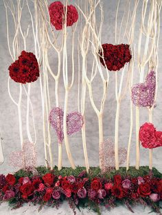 Valentine's Day Floral Art. For more visit www.aboutflowersblog.com