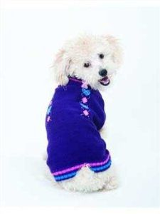 Fashion Pet Lookin Good Co-ed Heart Sweater For Dogs Medium Purple ♥♥ BuyDogSweaters.com