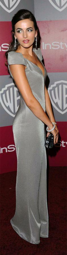 Camilla Belle: silver/ gray dress