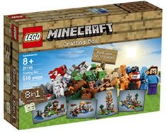 Pin for Later: See the Hottest Toys of the 2015 Holiday Season Before They're Sold Out Lego Minecraft Crafting Box Minecraft Crafts, Lego Minecraft, Minecraft Party, Lego Building Sets, Lego Boxes, Lego System, All Lego, Lego News, 8 Year Olds