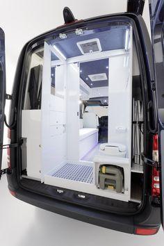 Sprinter Concept Van; rear bathroom.