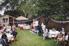 small diy backyard wedding | Tasha & Noah's Americana Backyard BBQ Wedding