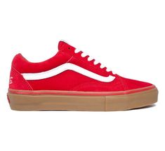 "Vans Syndicate Old Skool Pro ""S"" Golf Wang (Red/Gum) - Skate Shoes - www.consortium.co.uk"