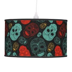 This fab design features a red & blue skull motif that even the most hardened outcast will flipping love!