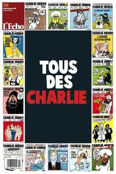 """Hommage à #CharlieHebdo dans L'Echo ce jeudi 8 janvier #JeSuisCharlie"""
