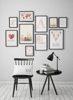Minimalist poster, printable art print, Geometric print, Triangle art, Wall art�