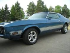 1973 Mustang for sale (AZ) - $14,900 OBO '73 Ford Mustang Coupe 34,000 Miles. RWD. Clean title. Number's Matching - in EXCELLENT condition Blue exterior paint with Mach 1 Badges Beautiful Blue Vi