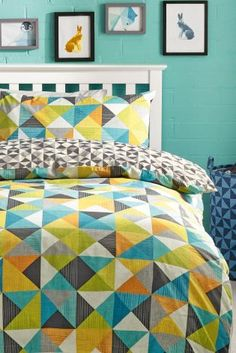 Buy Geo Block Bed Set from the Next UK online shop