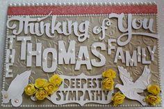 Condolences Card, Deepest Sympathy, Cards, Decor, Sympathy Card Messages, Decoration, Maps, Decorating, Playing Cards