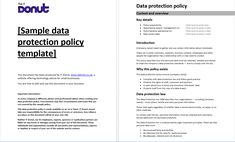 GDPR Free Privacy Policy GDPR Data Mapping Templates Pinterest - Data protection and privacy policy template