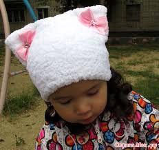 Картинки по запросу детская шапка для девочки кошечка