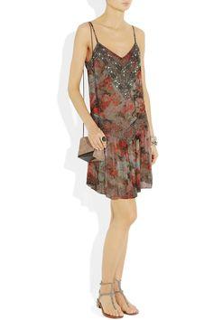 Haute Hippie embellished floral dress