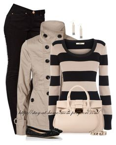 """Striped Jumper"" by stay-at-home-mom ❤ liked on Polyvore"