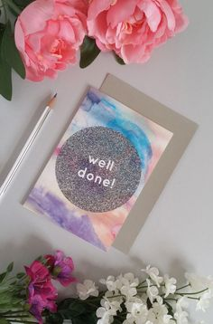 Styled photo of modern, design-led greetings card by Sweet Oxen / www.sweetoxen.co.uk