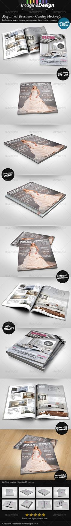 Photorealistic Brochure / Magazine Mock-up - GraphicRiver Item for Sale