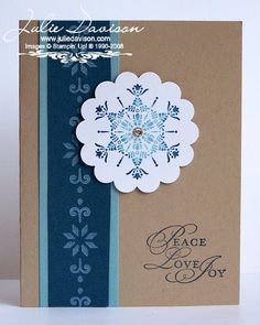 Julie's Stamping Spot -- Stampin' Up! Project Ideas by Julie Davison: Rock 'N Roll Snowflake Card