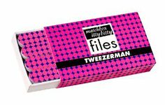 Tweezerman Pop of Op Matchbox Files, Pink, 0.67 Ounce by Tweezerman. $9.00. Case and files have coordinating pattern. 12 mini nail files that fit in a convenient matchbox style case. Two sided for shaping and smoothing nails, perfect for purse and travel. It's not an optical illusion, nail grooming just got more convenient, not to mention fashionable. Echoing trends from the likes of missoni, marimekko and coach, Tweezerman has taken psychedelic privileges with t...