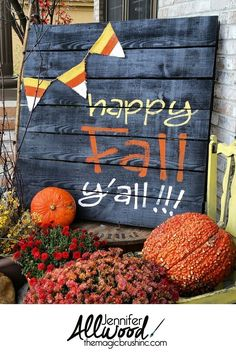 Want to have the prettiest front porch on the block this fall? Check out these DIY fall porch decorating ideas that are both easy and cheap to make! Diy Craft Projects, Craft Projects For Adults, Fall Projects, Diy Pallet Projects, Project Ideas, Craft Ideas, Decor Crafts, Diy Ideas, Decor Ideas