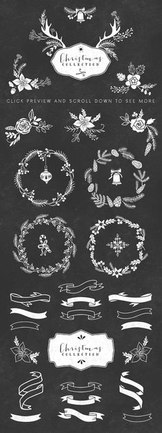 Christmas hand drawn pack by kite-kit on Creative Market