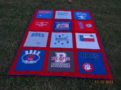 T shirt Memory Quilt with Your School Tee by sunshineofautumn, $120.00