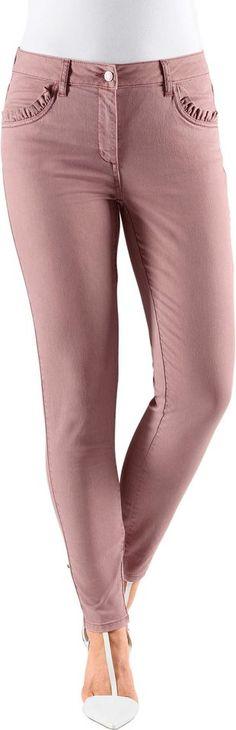 Fair Lady Hose in elastischer Jeans-Twill-Qualität ab 39,99€. Schmale, knöchellange Hose, Baumwolle, Polyester, Elasthan, Klassischer Bund bei OTTO