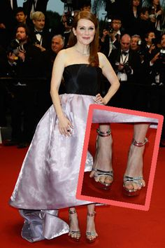 Julianne Moore's feet looked crazy on last night's Cannes red carpet