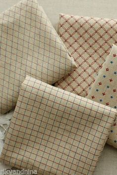 zakka shabby chic GRID & PATTERN Japanese Cotton Linen blend quilting fabric, £12.00 | eBay