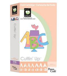 Provo Craft Cricut Font Cartridge - Cuttin' Up: dies & accessories: die cut machines & accessories: scrapbooking: Shop | Joann.com