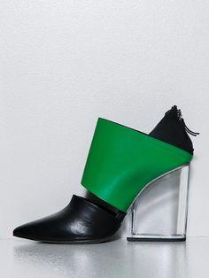 Vic Matie' Banded Heel in Black | Lyst