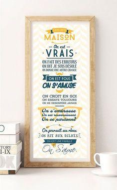 Les Règles de la maison Poster disponible sur SpilloDesign shop sur Etsy