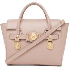 VERSACE Signature Handbag in Blush ($1,043) ❤ liked on Polyvore featuring bags, handbags, shoulder bags, purses, bolsas, bolsos, signature blush, versace purses, handbags shoulder bags and versace handbags