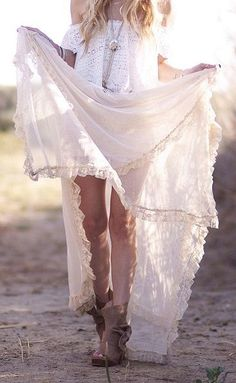 How off your gypsy spirit in a long maxi skirt and boots + tribe inspired neckchain