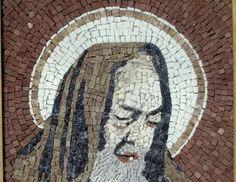 Mosaic Padre Pio Mosaic made using marble stones representing an image of Padre Pio. #madeinitaly #artigianato