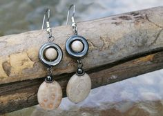 Fossil Coral Drop Earrings by denton372003 on Etsy, $20.00
