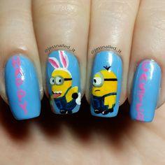 jessnailed_it minions easter #nail #nails #nailart