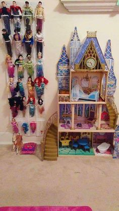 22 Kid-Friendly Playroom Storage Ideas - decorisme If you own a lo. - 22 Kid-Friendly Playroom Storage Ideas – decorisme If you own a lot of room around the bed, then you can also make a small sitting Source by - Dress Up Storage, Playroom Organization, Barbie Organization, Playroom Ideas, Playroom Colors, Toy Storage, Storage Ideas, Barbie Storage, Kids Storage