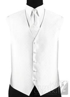 White 'Vineyard' Vest from http://www.mytuxedocatalog.com/catalog/vests/VM52W-White-Vineyard-Vest/