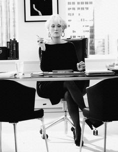 One of my favorite movies, 'The Devil Wears Prada'.  (She certainly played that part well, lolololol)