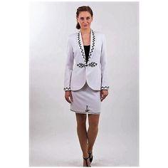 Eszter kosztüm www.hagyomanyorzobolt.com Folk Fashion, Peplum Dress, Blazer, Jackets, Dresses, Women, Style, Down Jackets, Vestidos