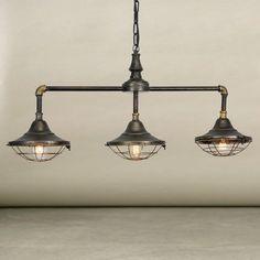 Industrial 3 Hanging Pendant Light Fixture