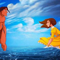 *TARZAN & JANE ~ Tarzan, 1999....Or in the sea itself!