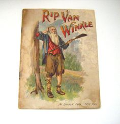 Rare 1880's Rip Van Winkle By Washington Irving by parkledge, $250.00